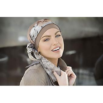 Kanker sjaals - Yanna Light Brown Floral