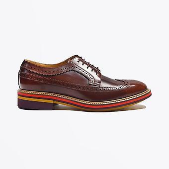 Paul Smith  - Leather Contrast Heel Brogue - Tan
