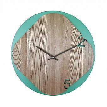 Rebecca huonekalut kello vihreä seinä moderni puu home office 40x40x5