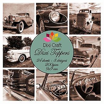 Dixi Håndværk Dixi Toppers 9x9cm Vintage Automobile