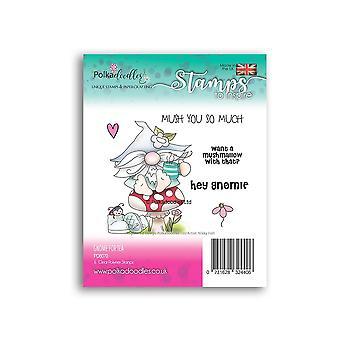 Polkadoodles Gnome para sellos transparentes de té