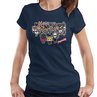 Aggretsuko Alle Tegn Dame&Apos;s T-skjorte