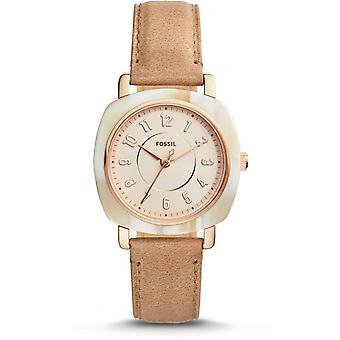 Fossil ES4282 Idealist Rose Dial Nude Leather Ladies Watch