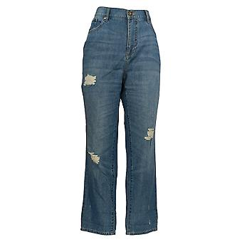 Rachel Hollis Ltd Frauen's Jeans Lived-In Freund Blau A354072