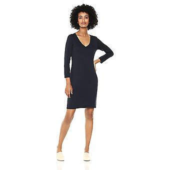 Brand - Daily Ritual Women's Jersey 3/4-Sleeve V-Neck T-Shirt Dress, N...
