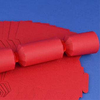 12 Red Make & Fill Your Own DIY Recyclable Christmas Cracker Boards