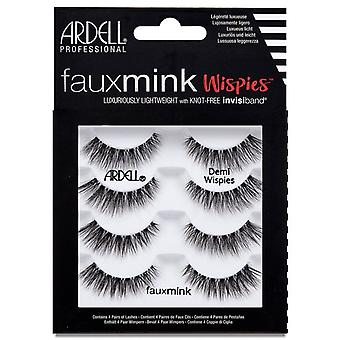 Ardell Faux Mink Eyelashes - Black Demi Wispies Multipack with Invisiband