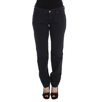 Ermanno Scervino Blue Cotton Blend Casual Fit Pants SIG30330-1
