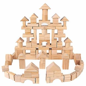 Wooden-blocks Geometric-shape For, Learning-assembling-building & Construction