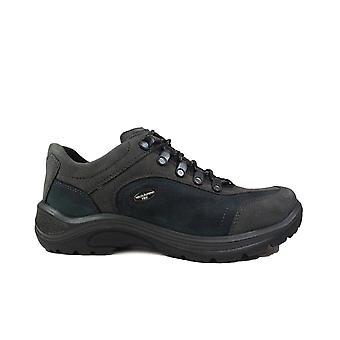 Waldläufer Hayo 415901 304 351 Navy Nubuck Leather Mens Lace Up Chaussures de marche
