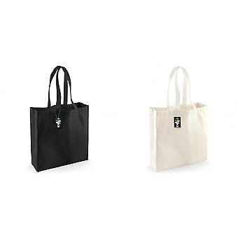 Westford Mill Fairtrade Cotton Classic Tote Shopping Bag (Pack of 2)