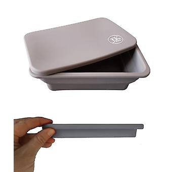 Silicone 'apos;Freezer to Oven'apos; Collapsible Food Container with Silicone Lid (2 Pack)