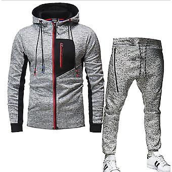 Mannen's Casual Trainingspak Set Long Sleeve Full-zip Running Jogging Athletic Sweat Suits