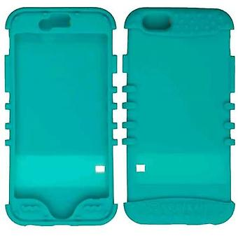 Rocker Series Skin Protector Case for iPhone 6/6s (Blueish Green)
