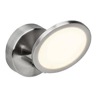 BRILLIANT Lampada Pluto LED Wall Spot Ferro/Bianco 1x 5W LED integrato (SMD), (500lm, 3000K) Scala da A a E Gireta della testa