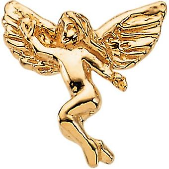 14k gul guld danse Angel revers Pin 12x13mm - 1,1 gram