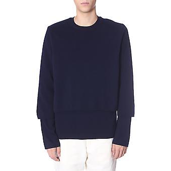 Comme Des Garçons Shirt W275062 Men's Blue Wool Sweater
