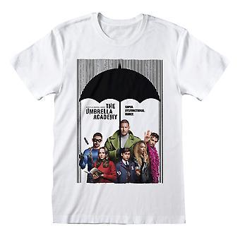 T-shirt d'affiche d'adulte d'académie de parapluie d'université