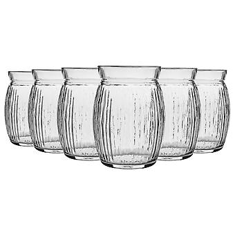 Bormioli Rocco 6 Piece Sweet Coconut Cocktail Glasögon Set - Dekorativa tropiska Tiki Bar dricka tumblers - 440ml