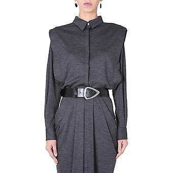Isabel Marant Ht193720h039i02an Women's Grey Wool Shirt