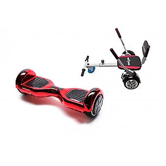 Package Smart Balance Hoverboard 6.5 Inch, Regular Electrored + Hoverseat With Sponge, Motor 700 Wat, Bluetooth, Led