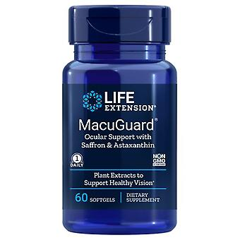 Life Extension Macuguard Ocular Support Plus Astaxanthin and C3G, 60 Sgels