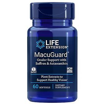 Life Extension Macuguard Ocular Support Plus Astaxanthin und C3G, 60 Sgels