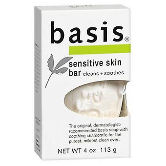 Nivea Basis Sensitive Skin Bar Soap Cleanns Plus Smoothes, 4 oz