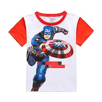 Children Summer Avenger T-shirts Clothes Captain/ Batman/ Superman