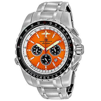Oceanaut Men's Aviador Pilot Orange Dial Watch - OC0116