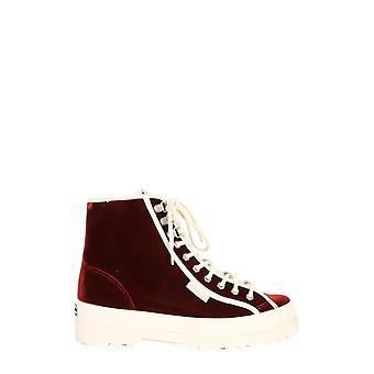 Alexa Chung S00ecv02787917 Femmes's Bourgogne Viscose Hi Top Sneakers