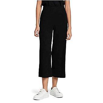 MERAKI Women's Standard Rib Cropped Pants, Black, L (US 10)