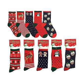 Otterdene Novelty Xmas Socks Ladies Asstd