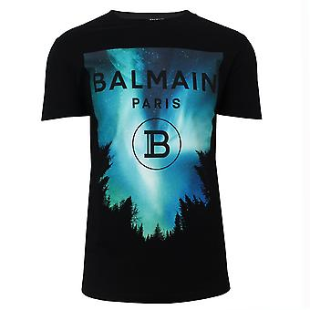Balmain graphic men's black t-shirt