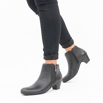 ريكر 70551-00 السيدات أحذية الكاحل الأسود
