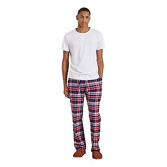 Superdry Laundry T-Shirt And Pant Set - Optic / Navy Red Check