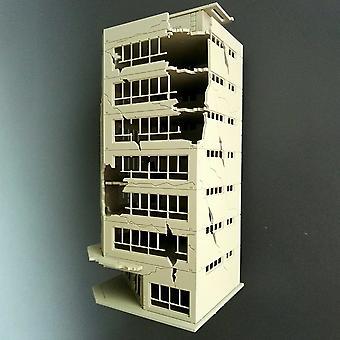 Sand tabell förstörd byggnadsmodell - Slaget skadad