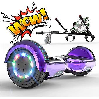 Right Choice Hoverboard with Adjustable Hoverkart - Trendy LED-Bluetooth Decoration - Speakers