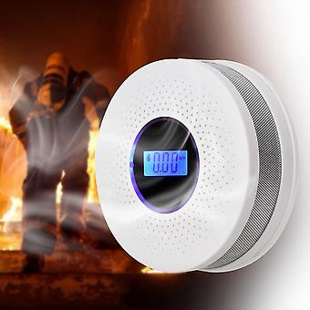 Carbon Monoxide Smoke Fire Detector Photoelectric Sensor Compound Alarm Home