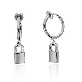 Ingemark Geometric Lock Clip Brincos Mulheres
