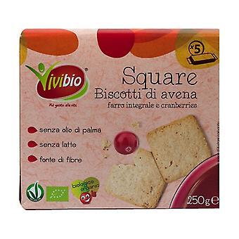 Quadrado - aveia integral, biscoitos de espelta e cranberries None