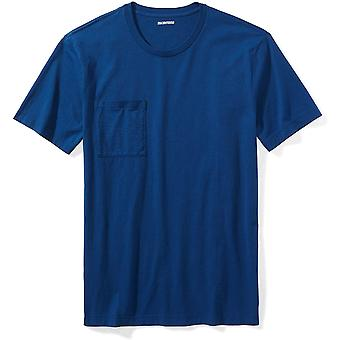 "Brand - Goodthreads Men's ""The Perfect Crewneck T-Shirt"" Short-Sleeve Cotton, Royal Blue, Large"