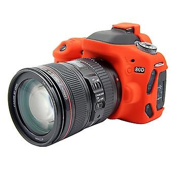 PULUZ Soft Silicone Protective Case for Canon EOS 80D(Red)