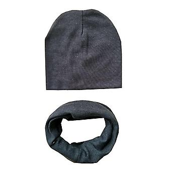 Autumn Winter Baby Cotton Hat Set Neck Scarf Spring Warm Neckerchief Kids