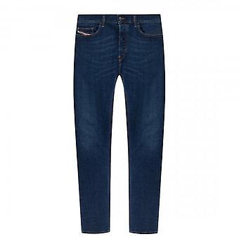 Diesel D-Luster Slim Stretch Denim Blue Washed Jeans 009NN
