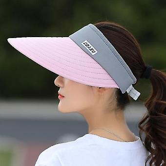 Visière de soleil d'été chapeau de plage à largebord Réglable Uv Protection Chapeau femelle