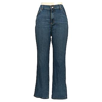 Lee Women's Jeans Embolsado Perna Reta Azul Básico