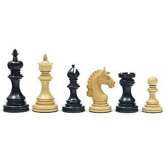 Garvi ibenholt skakbrikker 4 Inches
