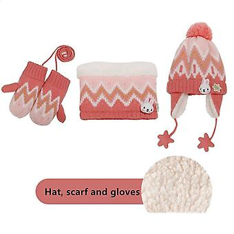 Winter-Schal, Hut & Handschuh-Sets, Outdoor warm samt Beanies Cap