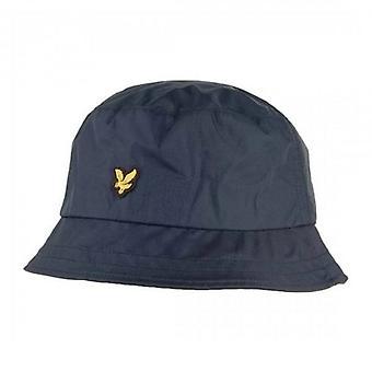 Lyle & Scott Logo Navy Blue Ripstop Bucket Hat HE1001A